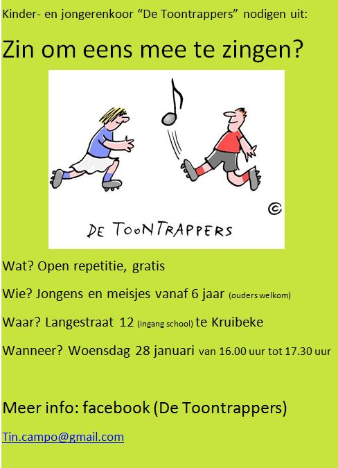 open repetitie Toontrappers